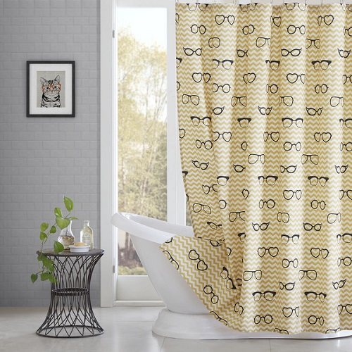 HipStyle Liv Cotton Printed Shower Curtain
