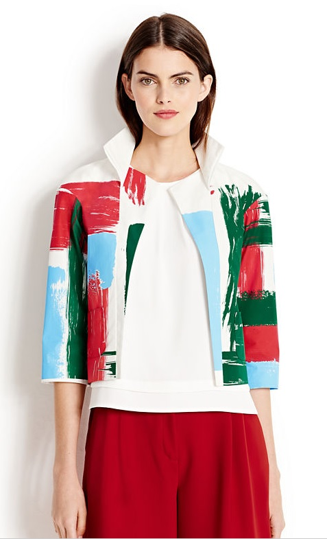 Brushstroke print jacket