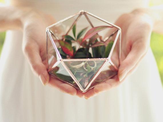 Etsy mini geometric terrarium