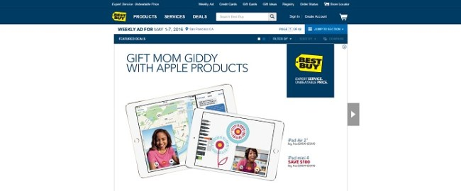Bestbuy.com homepage