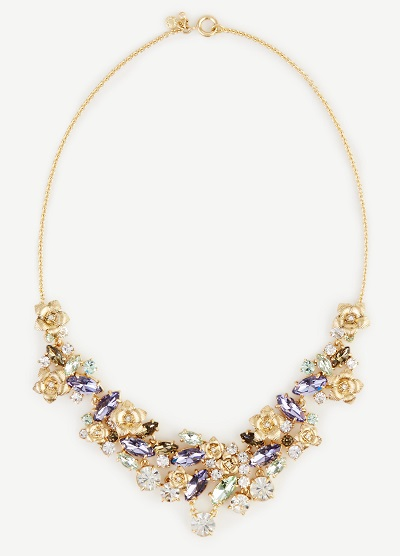 floral jeweled necklace