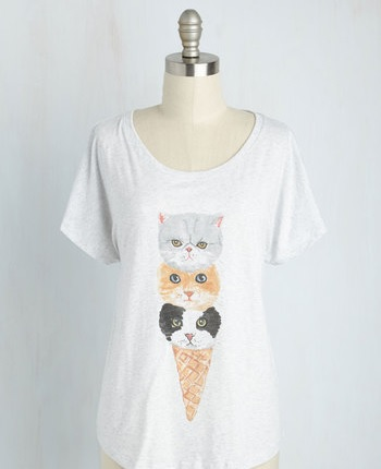 Cat ice cream cone t-shirt