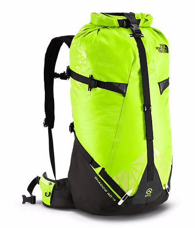SHADOW 40+10 neon green backpack