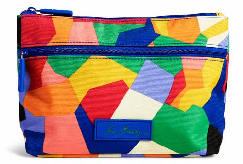 Multicolored makeup bag