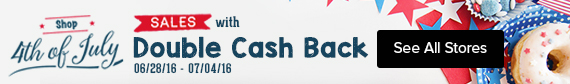 shop 4th of july sales with double cash back at ebates