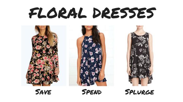 Save Spend Splurge 90s Floral Dresses