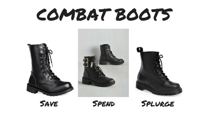 Save Spend Splurge 90s Combat Boots