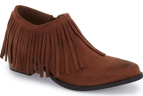 Bayou Brown Fringe Bootie