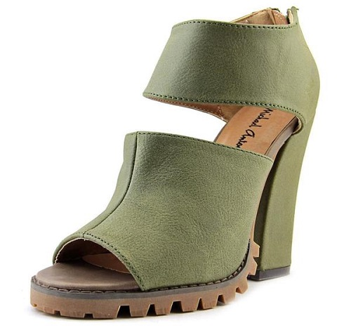 Kaimi Olive Green Synthetic Boots