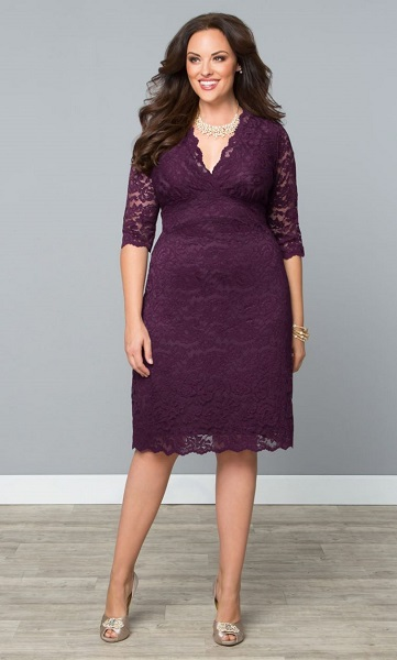 Purple lace dress