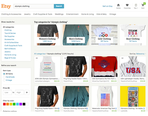 Etsy Team USA gear