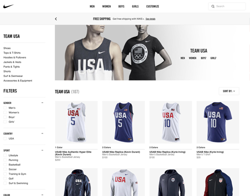 Shop Nike Olympic gear with cash back at Ebates