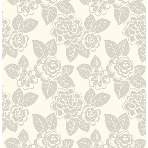 Flocked Floral Wallpaper