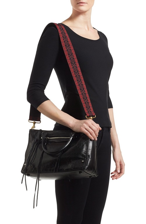 Rebecca Minkoff Embroidered Guitar Bag Strap