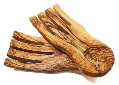 Wooden salad hands