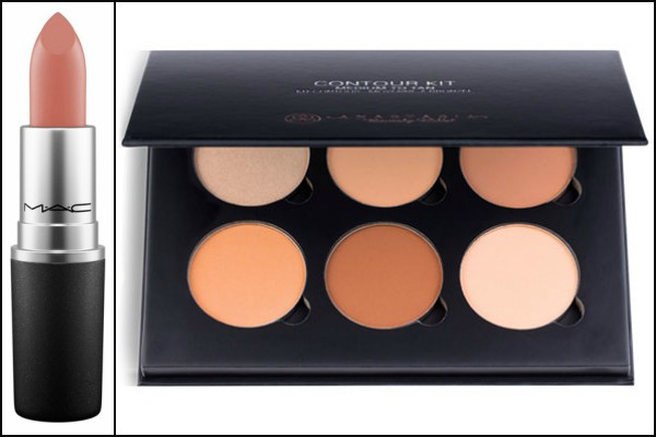 Nude lipstick and contouring kit