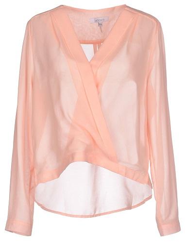 sheer pink blouse