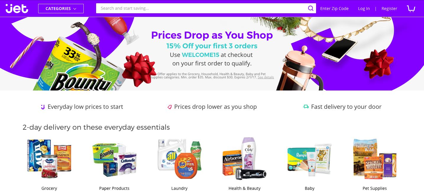 Jet.com Coupons & Cash Back