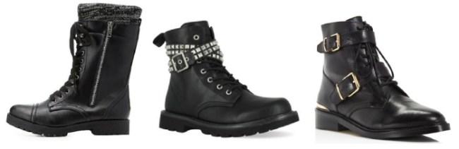 Black women's combat boots