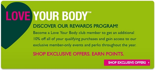The Body Shop's Love Your Body Loyalty Program