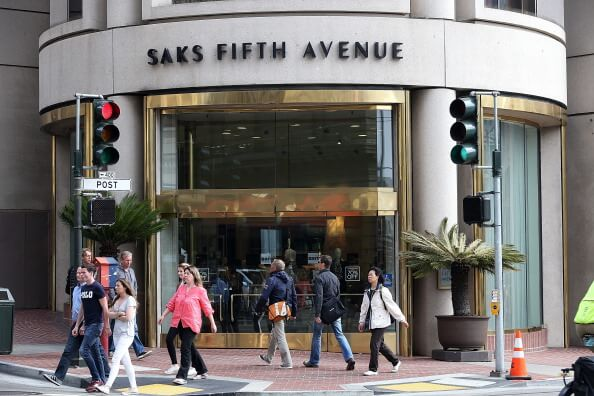 Saks Fifth Ave store front