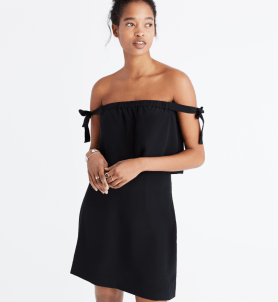 off the shoulder back dress