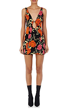 Balenciaga Floral Cut Out Dress