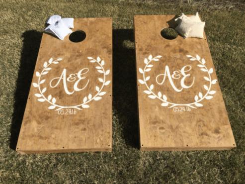 Personalized Etsy Cornhole Boards
