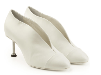 Stylebop Victoria Beckam White Leather Pumps