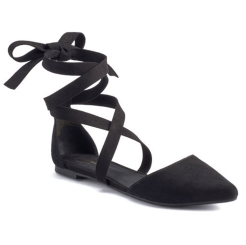 Candie's Women's Lace-Up D'Orsay Flats