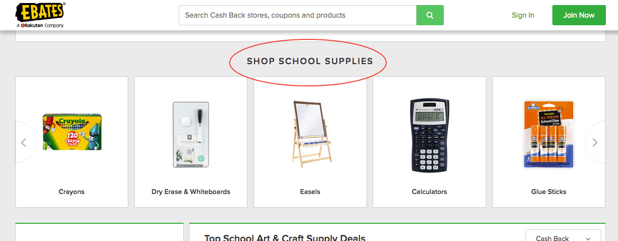 Shop School Supplies screenshot