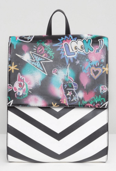 Graffiti Print Backpack