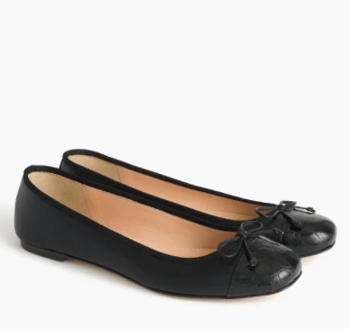 The All-American Sweetheart Lily Cap-Toe Ballet Flats