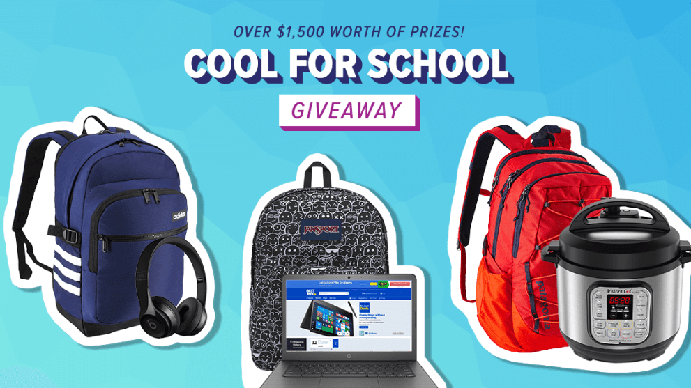 "Facebook Live ""Cool for School"" Giveaway"