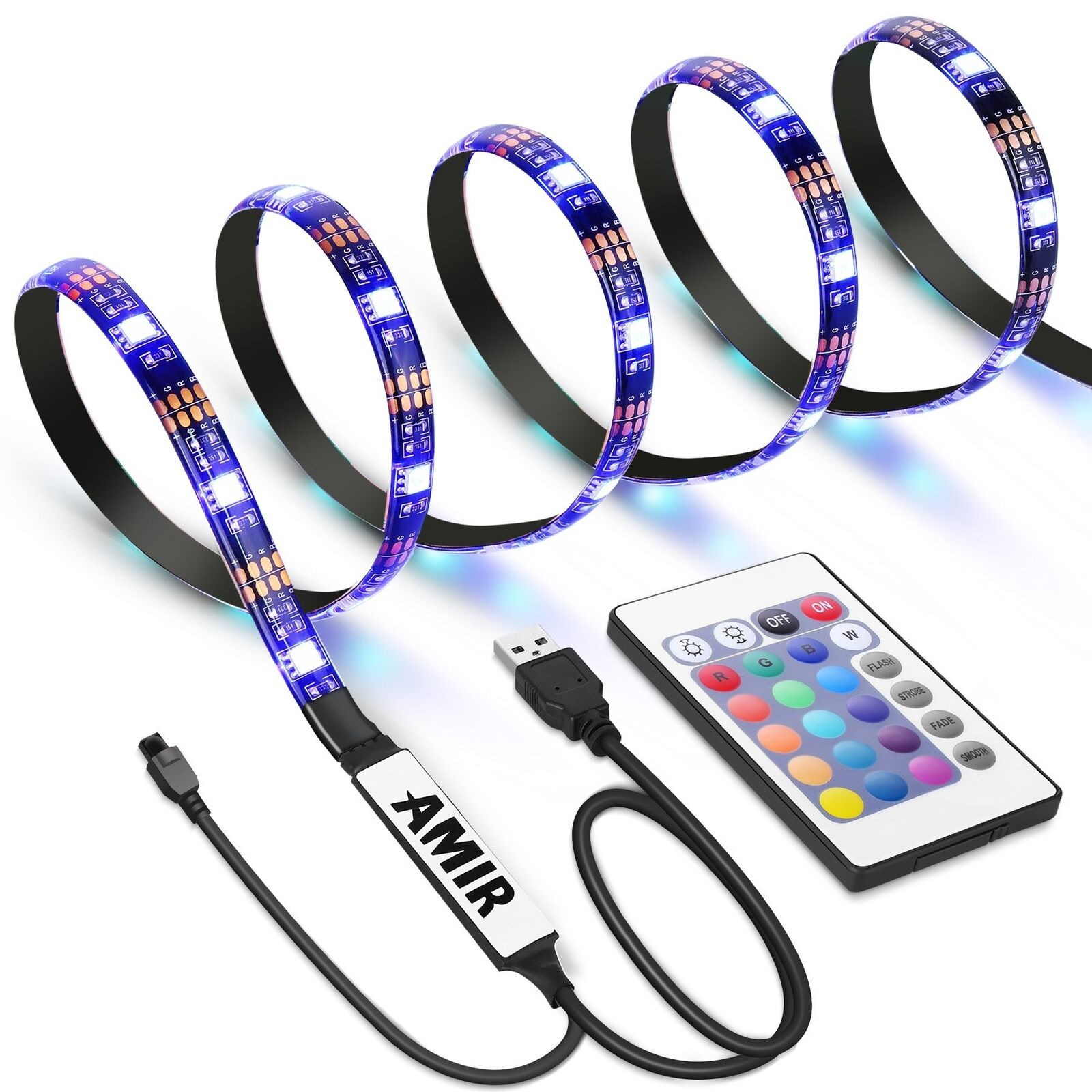 AMIR TV LED LIGHT STRIP, 30 LED TV BACKLIGHT STRIP, USB BIAS MONITOR LIGHTING