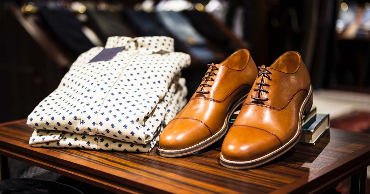 Men's shoes and dress shirts