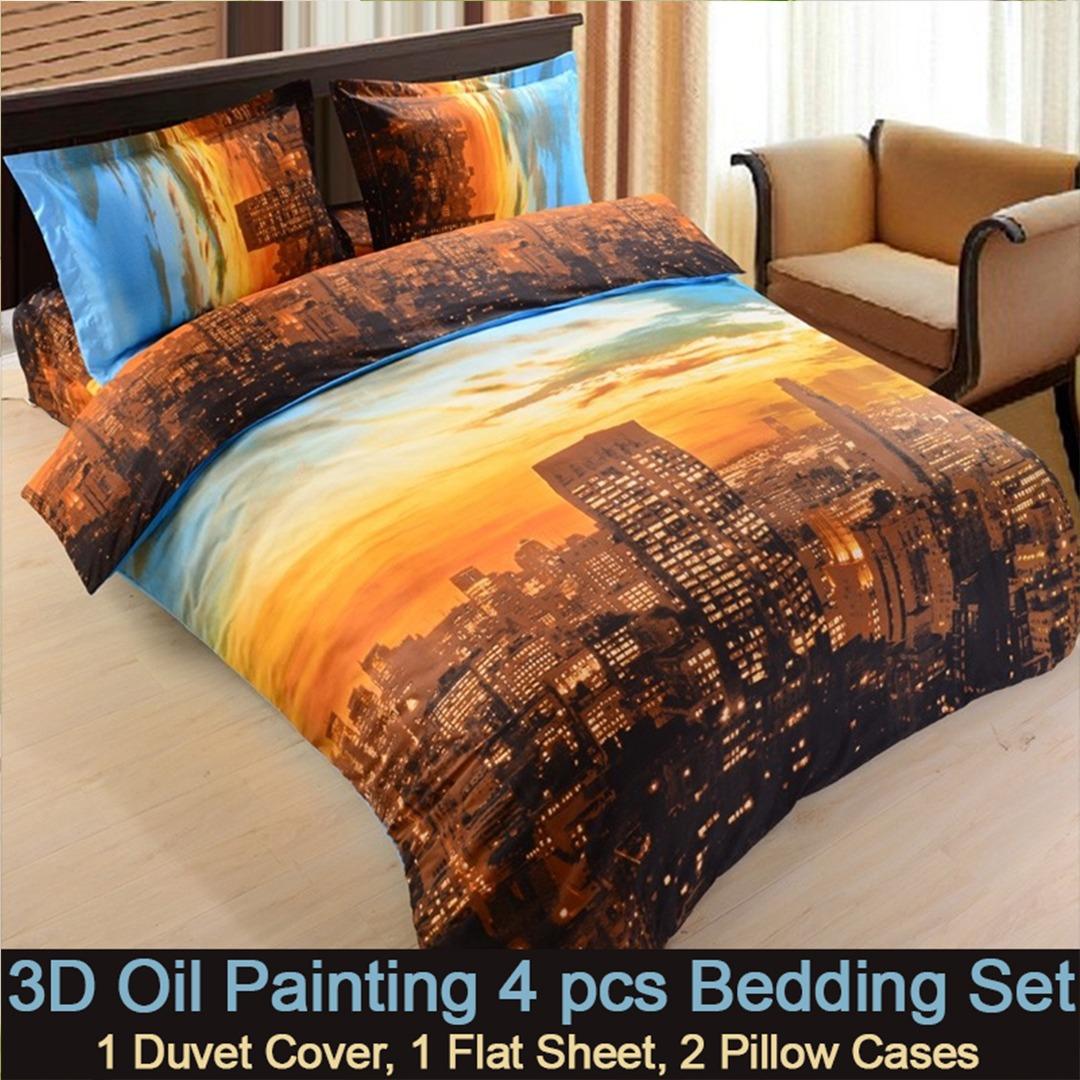3d New York City Bedding Set EBeddingSets