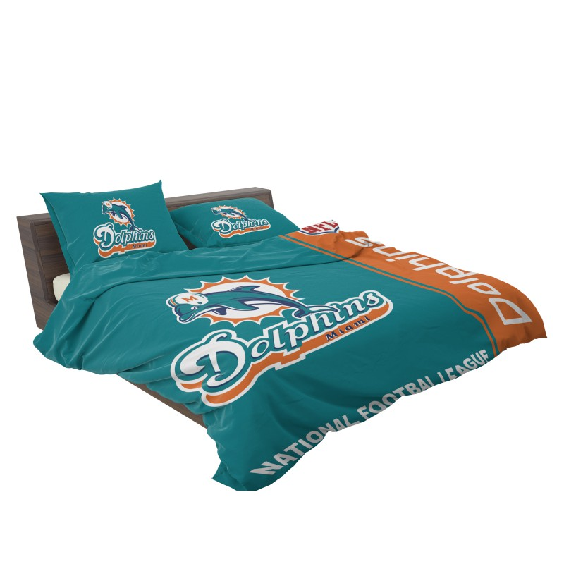 buy nfl miami dolphins bedding comforter set up to 50 off