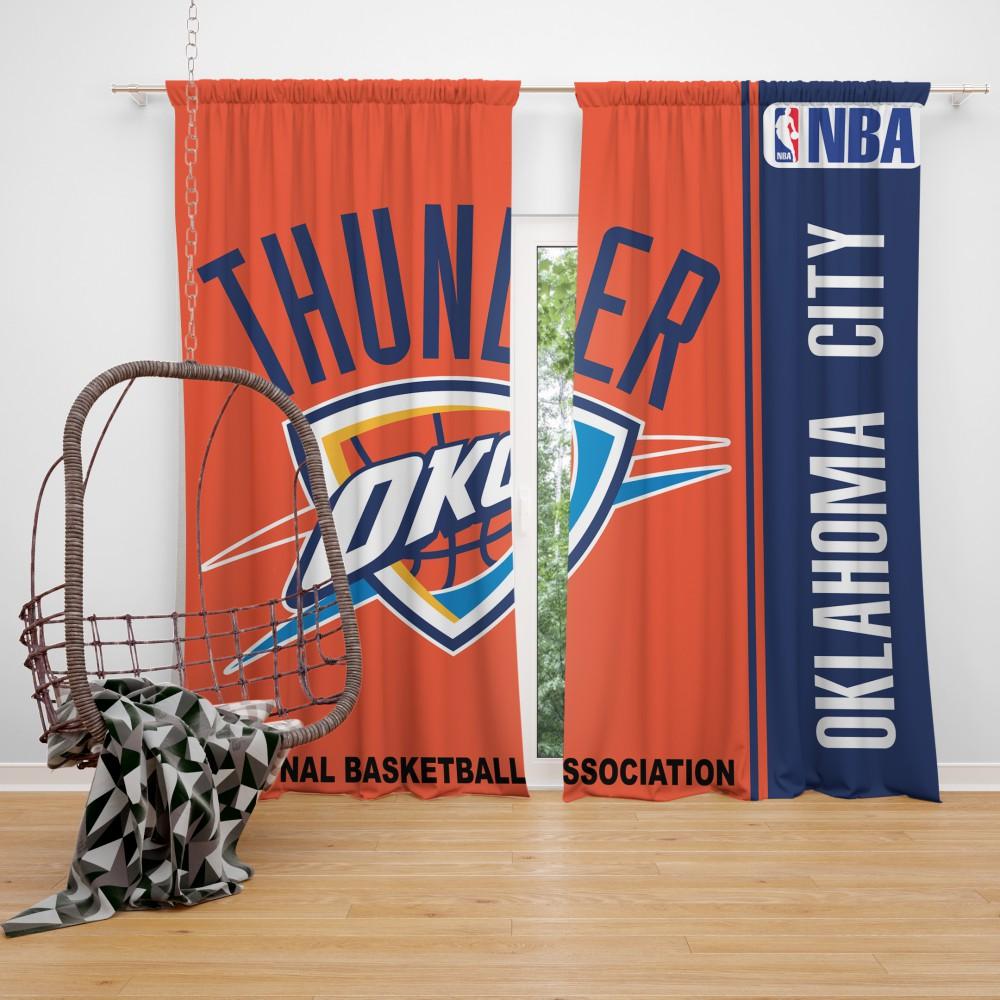 Oklahoma City Thunder NBA Basketball Bedroom Window Curtain EBeddingSets