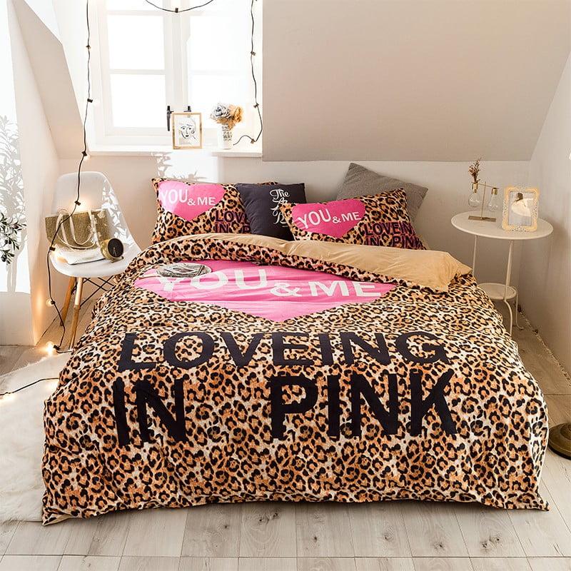 girls bedding set pink victoria secret queen size