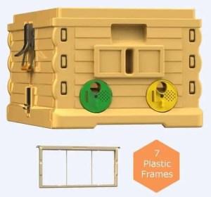 Apimaye 7 Frame Langstroth Super for Plastic Beehive