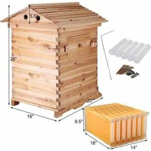 Happybuy 2 Layer Langstroth Beekeeping Starter Kit