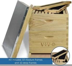 VIVO 20 Frame Langstroth BeeHive Starter Kit