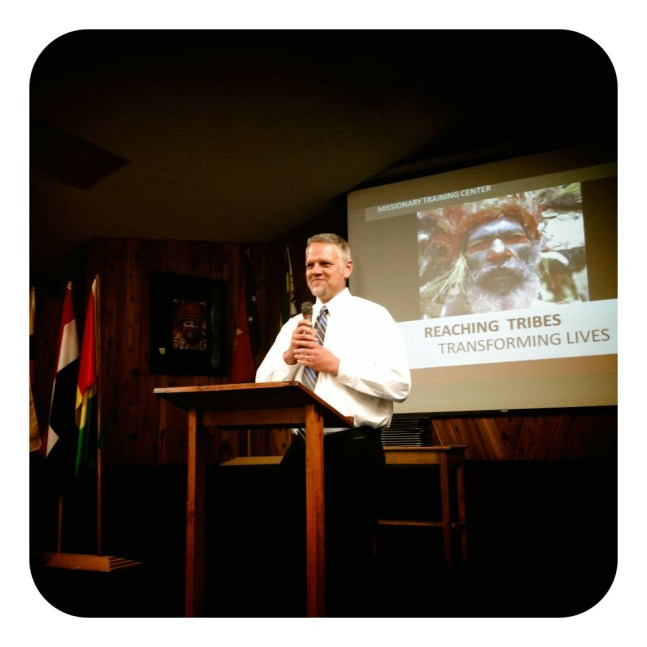 Matt Arnold the director of the Missionary Trainings Center kicking off the graduation.