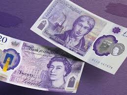 A New British 20-pound note appearing most famous British painter Turner enters circulation