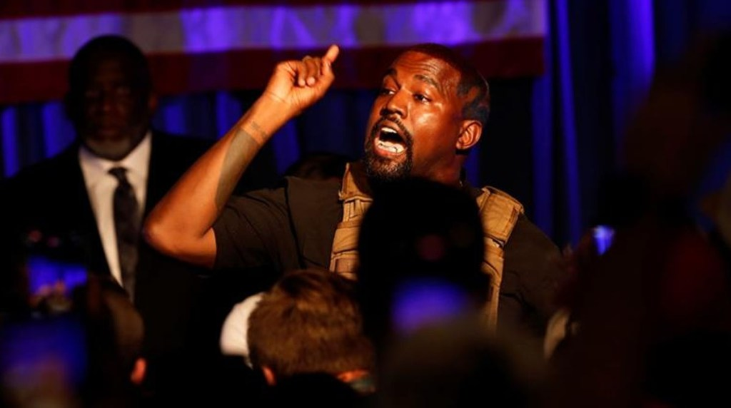 Kanye West float US presidential campaign with an emotional gathering