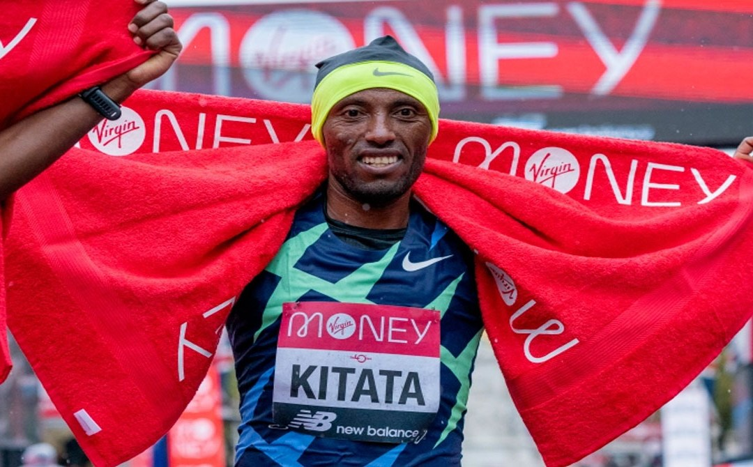 Shura Kitata Ethiopia's sprints to London Marathon win