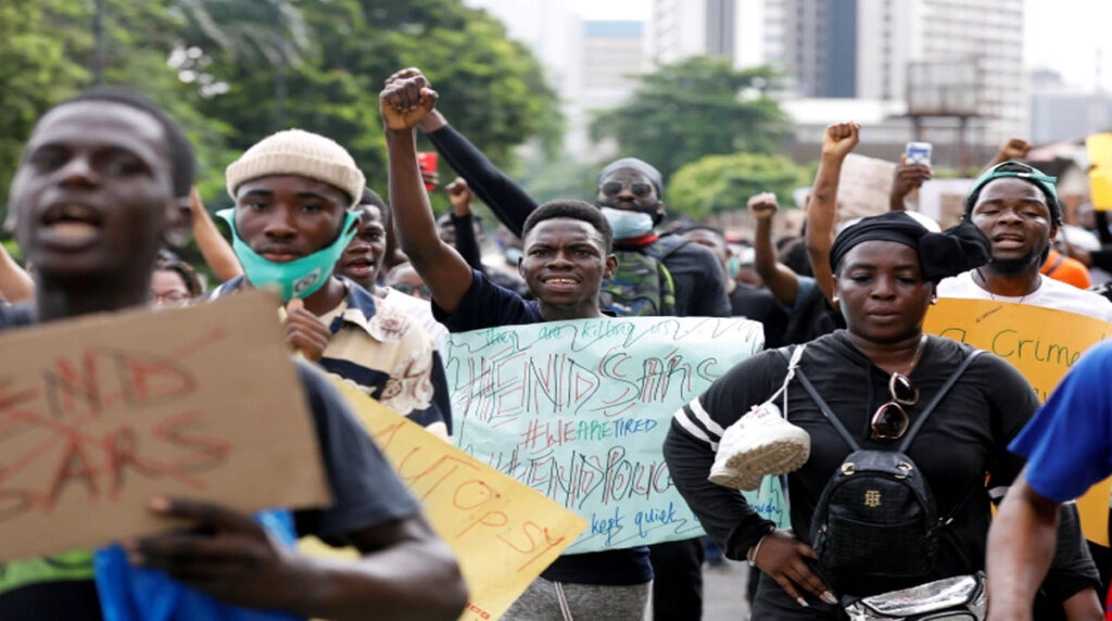 Thousands-of-Nigerians-demand-police-revamp-for-the-6th-day