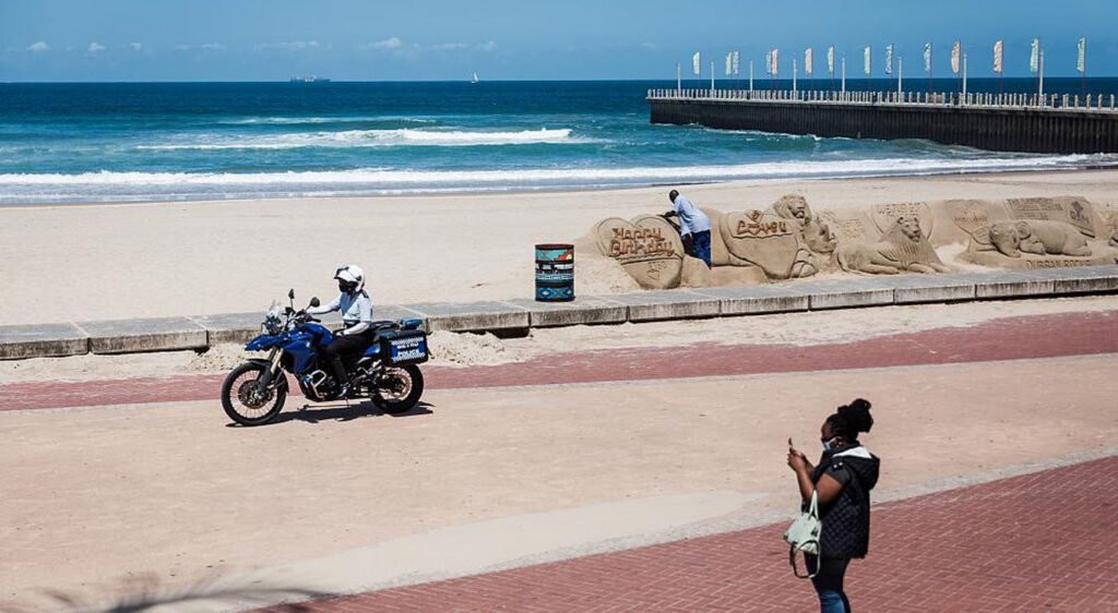 South Africa's police minister said foreign nationals from Europe are defying the country's lockdown  measures by going to the beach in Western Cape