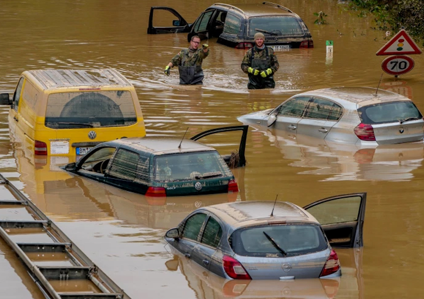 Western Germany is cleaning up the worst natural disaster to hit the country in almost 60 years